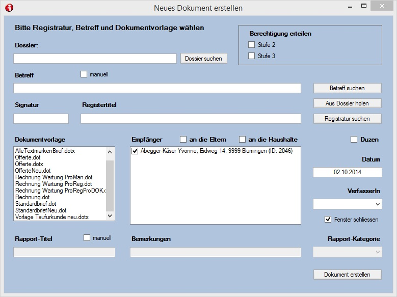 Aktenverwaltung – hilfe ProPfarramt ProDOK ProRedaktion